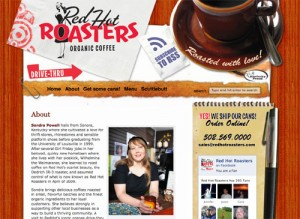 Red Hot Roasters Web Site Snapshot
